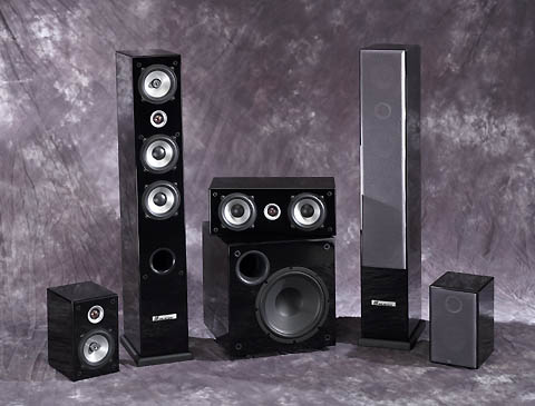 JA Audio 5.1 Acoustic Piano Lacquer Finish Home Theater System