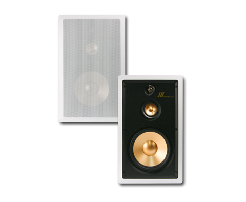 "JA-Audio - 8"" 3-way Aluminum GOLD In-Wall Speaker"